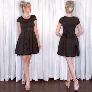 Kirna Zebete Grey Fit Flair Dress